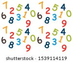 pattern of colored numbers on a ... | Shutterstock .eps vector #1539114119