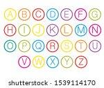 alphabet for children. kids... | Shutterstock .eps vector #1539114170