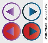 play button icon in trendy flat ... | Shutterstock .eps vector #1539116549