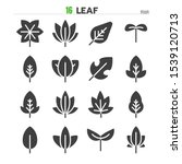 leaf solid glyph icon set... | Shutterstock .eps vector #1539120713