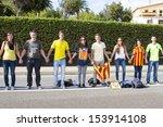 barcelona   september 11 ... | Shutterstock . vector #153914108