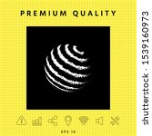 earth logo design   textured... | Shutterstock .eps vector #1539160973
