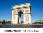 arc de triomphe in paris  ... | Shutterstock . vector #153918563