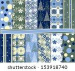 abstract vector set of... | Shutterstock .eps vector #153918740