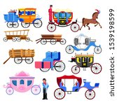carriage coach vector vintage... | Shutterstock .eps vector #1539198599