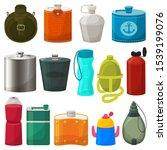 flask vector metal bottled hip... | Shutterstock .eps vector #1539199076