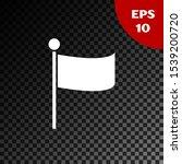 white flag icon isolated on...