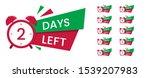 set of red promo offer. sale... | Shutterstock .eps vector #1539207983