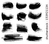 textured strokes drawn a flat... | Shutterstock .eps vector #153921134