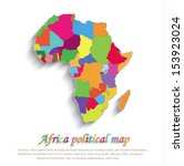 vector africa political colors... | Shutterstock .eps vector #153923024