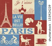 Retro Style Poster With Paris...