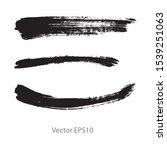 brush strokes watercolor... | Shutterstock .eps vector #1539251063