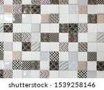 Stone Tile Pattern Background...