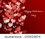 abstract valentine's day... | Shutterstock . vector #153925874