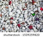 Gray Little Pebbles. Backgroun...