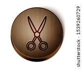 brown line scissors hairdresser ... | Shutterstock .eps vector #1539260729