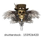 a steampunk skull isolated on...   Shutterstock . vector #153926420