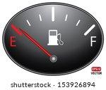 fuel indicator illustration on... | Shutterstock .eps vector #153926894