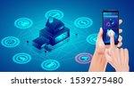 smart home technology concept.  ... | Shutterstock .eps vector #1539275480