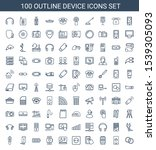 100 device icons. trendy device ... | Shutterstock .eps vector #1539305093