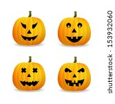 halloween pumpkins | Shutterstock .eps vector #153932060