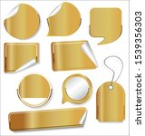 sale stickers and tags golden... | Shutterstock . vector #1539356303