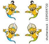 ghost genius 7 mascot character ...   Shutterstock .eps vector #1539359720
