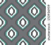 geometric retro ikat tribal...   Shutterstock .eps vector #153936959