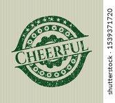 green cheerful distress rubber... | Shutterstock .eps vector #1539371720