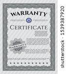grey vintage warranty...   Shutterstock .eps vector #1539387920
