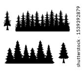 trees  silhouette of forest ... | Shutterstock .eps vector #1539392879
