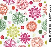 colorful snowflakes seamless... | Shutterstock .eps vector #153942203