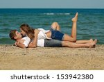 young couple man   woman loving ... | Shutterstock . vector #153942380