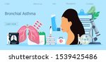 bronchial asthma concept. tiny... | Shutterstock .eps vector #1539425486