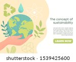 slide or landing page layout... | Shutterstock .eps vector #1539425600