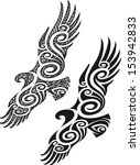 maori styled tattoo pattern in... | Shutterstock .eps vector #153942833