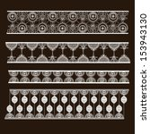 set of lace ribbons | Shutterstock .eps vector #153943130