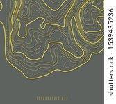 topographic map contour... | Shutterstock .eps vector #1539435236