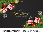 merry christmas and happy new... | Shutterstock .eps vector #1539446303