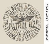 military typography  tee shirt... | Shutterstock .eps vector #1539451919