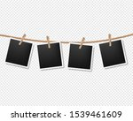 photos on the rope transparent... | Shutterstock . vector #1539461609