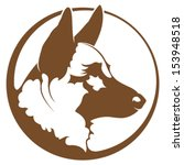Stock vector german shepherd illustration 153948518