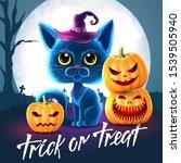 halloween funny characters.... | Shutterstock .eps vector #1539505940
