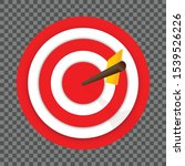arrow hitting a center of the... | Shutterstock .eps vector #1539526226
