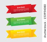 ribbons infographics over white ... | Shutterstock .eps vector #153954080