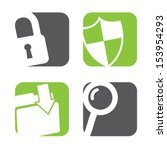 data protection icons over... | Shutterstock .eps vector #153954293