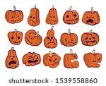 happy halloween grungy retro... | Shutterstock .eps vector #1539558860