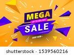 abstract mega sale banner... | Shutterstock .eps vector #1539560216