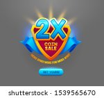 coin sale offer flat vector...