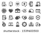 medical rx icons. hospital... | Shutterstock .eps vector #1539603503